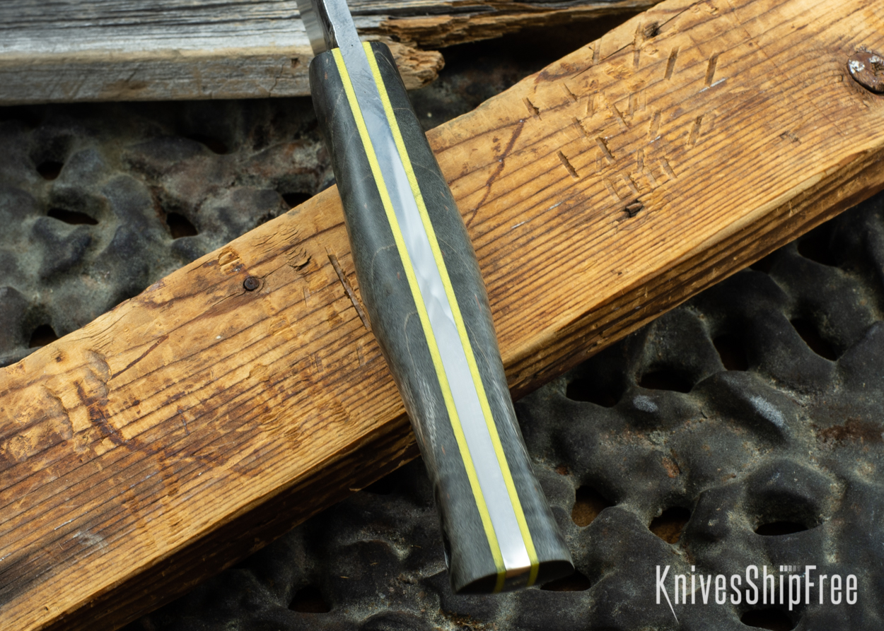 Black Curly Maple - Yellow Liners - 072056 (Spine)