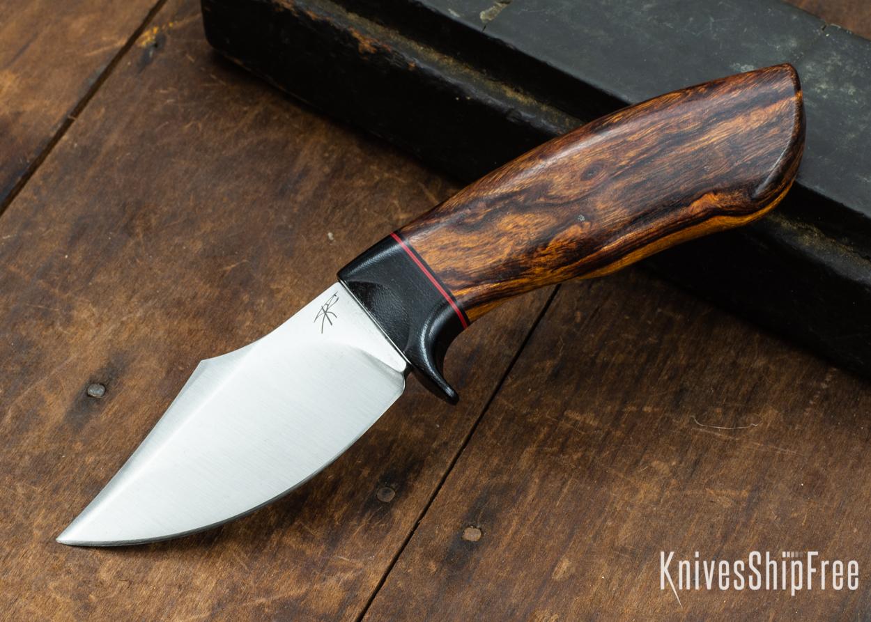 Dark Timber Knives: Dark Knight Skinner AEBL - Desert Ironwood - Black Guard - Blk/Red/Blk Spacer - 121837
