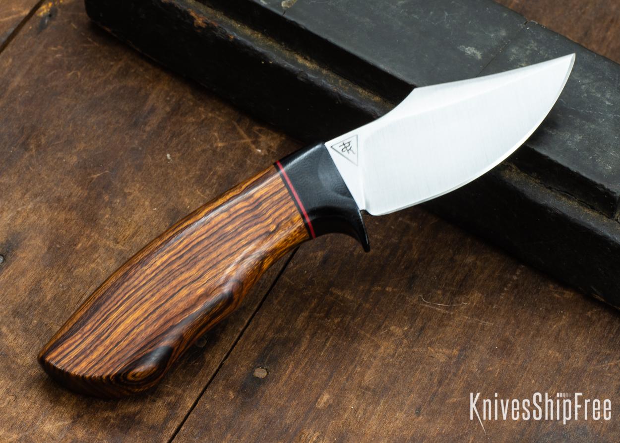 Dark Timber Knives: Dark Knight Skinner AEBL - Desert Ironwood - Black Guard - Blk/Red/Blk Spacer - 121838