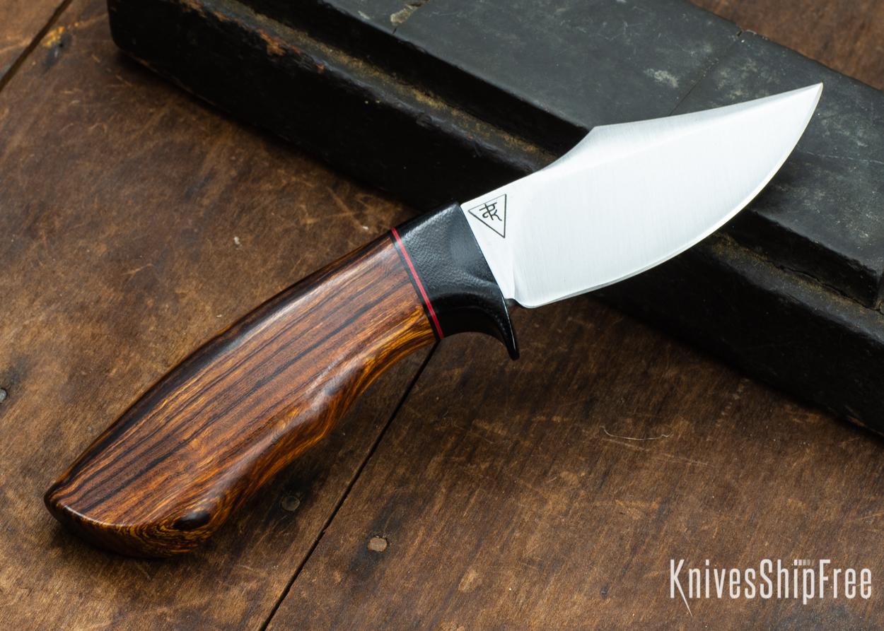 Dark Timber Knives: Dark Knight Skinner AEBL - Desert Ironwood - Black Guard - Blk/Red/Blk Spacer - 121840