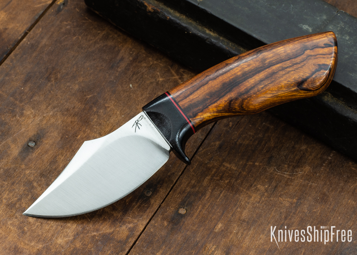 Dark Timber Knives: Dark Knight Skinner AEBL - Desert Ironwood - Black Guard - Blk/Red/Blk Spacer - 121843