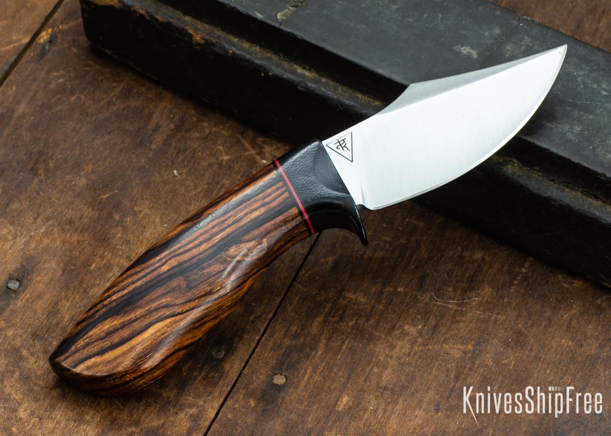 Dark Timber Knives: Dark Knight Skinner AEBL - Desert Ironwood - Black Guard - Blk/Red/Blk Spacer - 121845