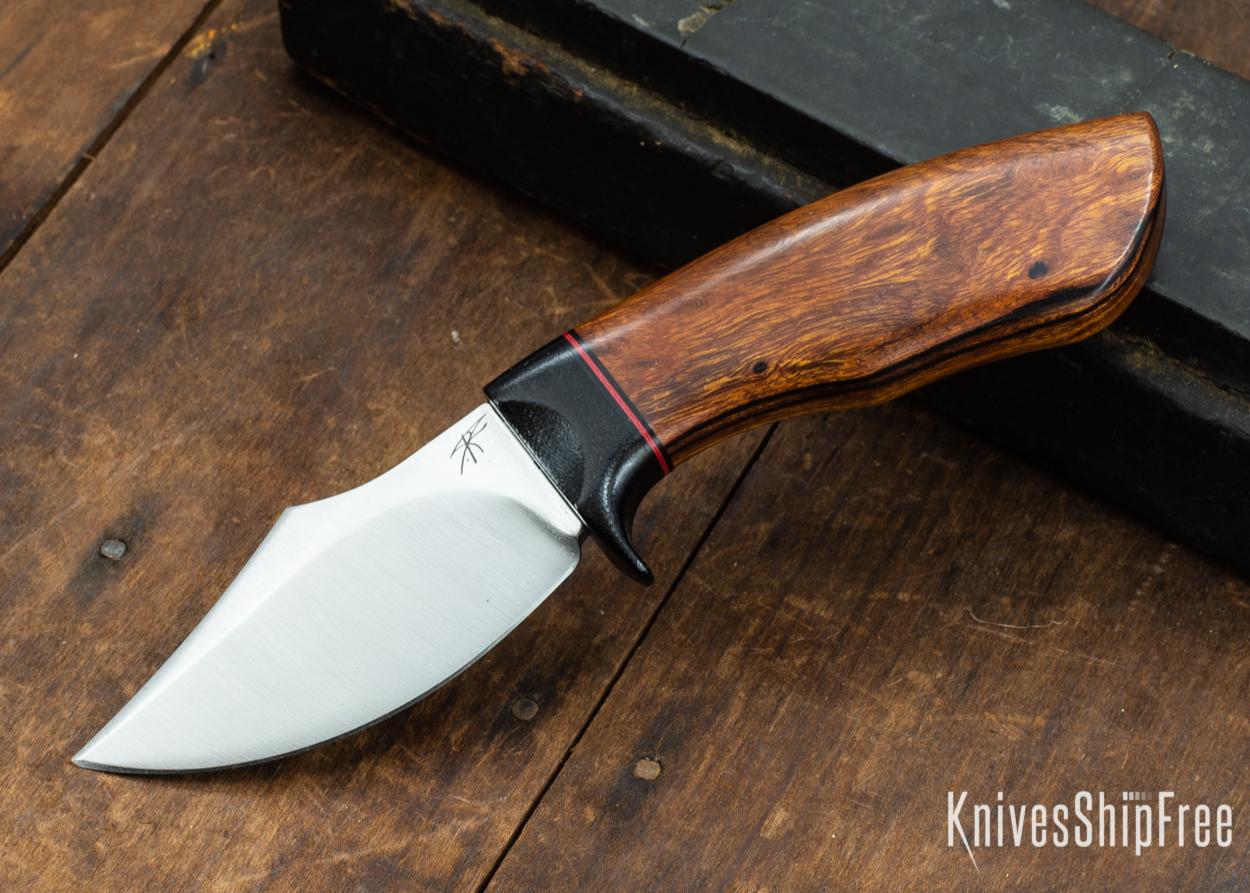 Dark Timber Knives: Dark Knight Skinner AEBL - Desert Ironwood - Black Guard - Blk/Red/Blk Spacer - 121847
