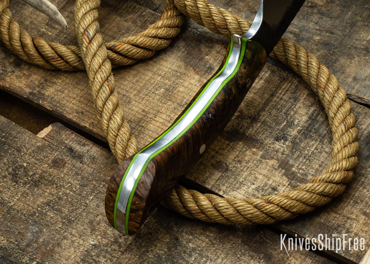 (Spine) Brown Elder Burl - Lime Green Liners - 112338