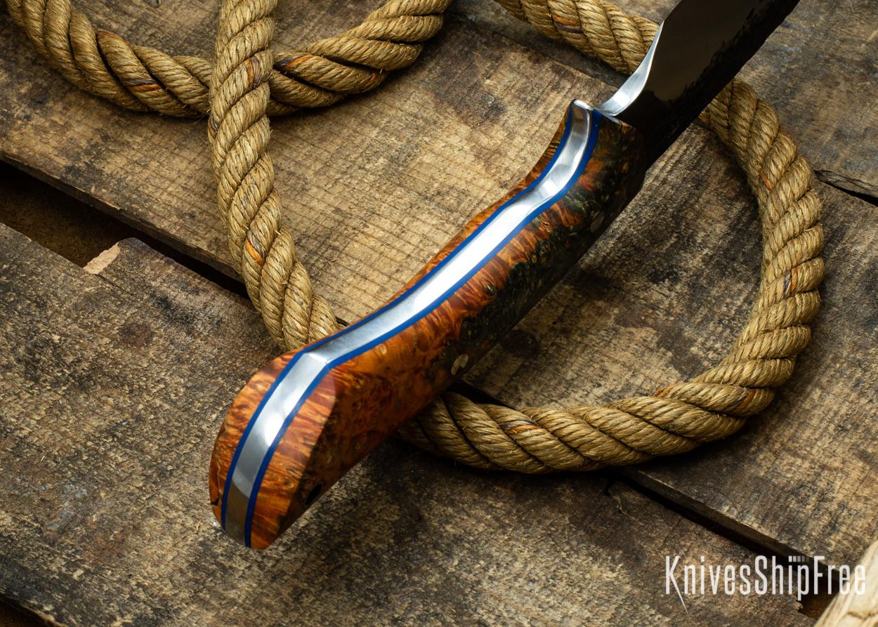 (Spine) Orange & Black Elder Burl - Blue Liners - 112349