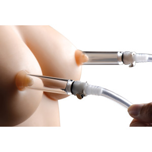 Nipple Pumping System With Dual Detachable Acrylic Cylinders