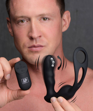 7x P-strap Milking And Vibrating Prostate Stimulator With Cock And Ball Harness