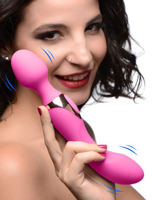 10x Dual Duchess 2-in-1 Silicone Massager - Pink - AG262-Pink