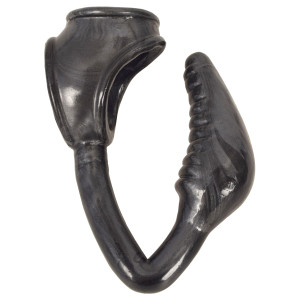 The Earl Cock And Ball Ring With Anal Plug -black - CN-16-0648-05