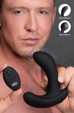 10x Inflatable And Vibrating Silicone Prostate Plug