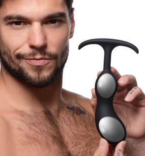 Premium Silicone Weighted Prostate Plug - Large
