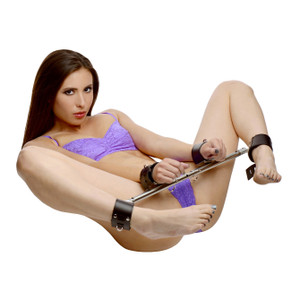 Adjustable Swiveling Spreader Bar With Leather Cuffs - AD293
