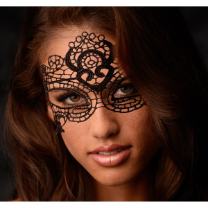The Enchanted Black Lace Mask - AD891