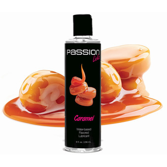 Passion Licks Caramel Water Based Flavored Lubricant - 8 Oz