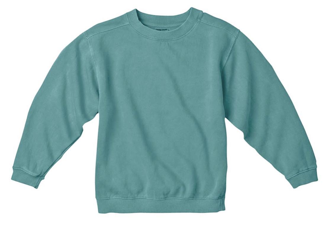 Seafoam Green Comfort Color Sweater