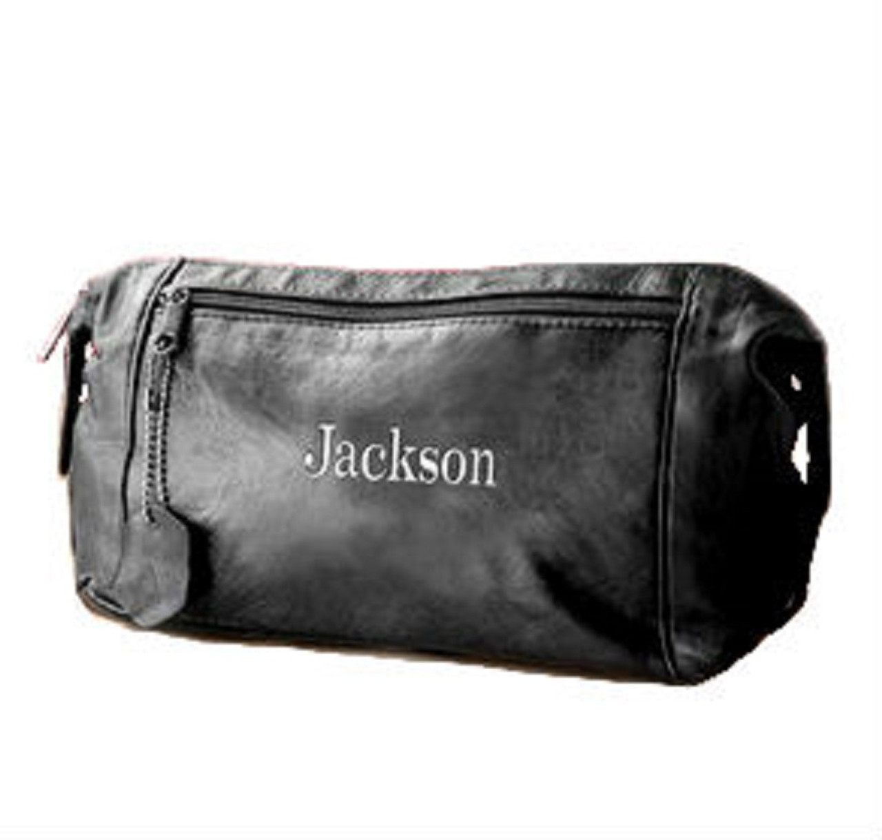 f9ab371ac161 Men s Personalized Leather Dopp Kit   Toiletry Bag