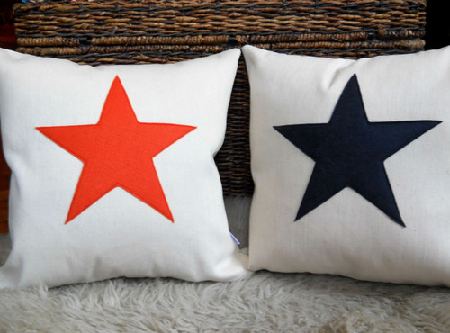 Scrabble Inspired Star Canvas Cushion Cover, Scrabble Inspired Star Canvas Pillow Cover