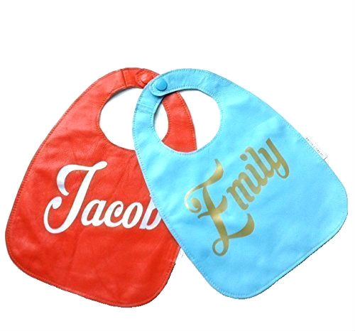 Personalized Leather Baby Bib