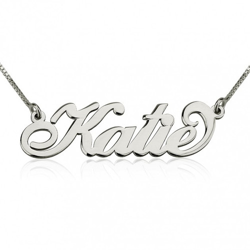 Sterling Silver Personalized Carrie Name Necklace