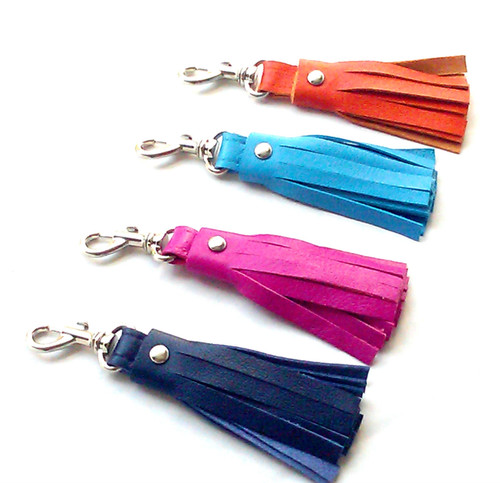 Kate Leather Tassel Key Chain & Key Fob 2.5