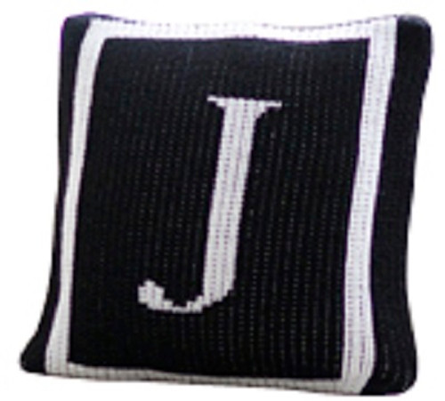 Personalized Monogram Pillow with Single Border