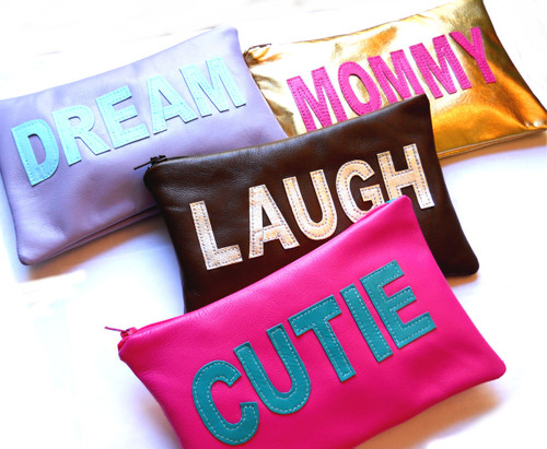 Parola Personalized Cosmetic Bag, Personalized Leather Make Up Case