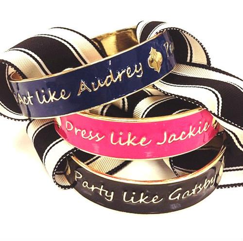 Signature Slogan Icon Bracelets