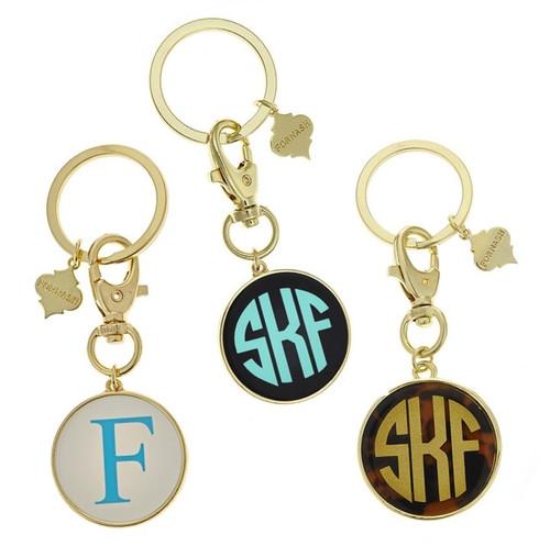 Frankie Monogrammed Key Chain