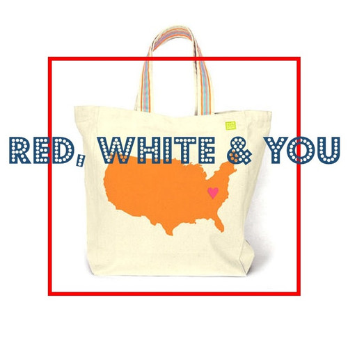 Personalized Heart Pin America  Map Tote Bag