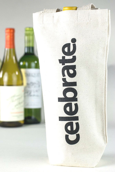 Celebrate Canvas Wine Tote