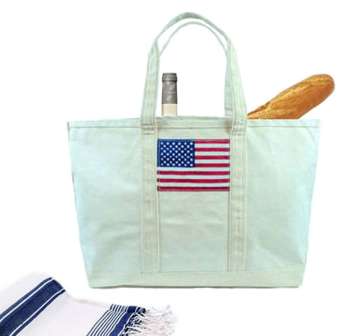 Stars and Stripes American Flag Tote Bag