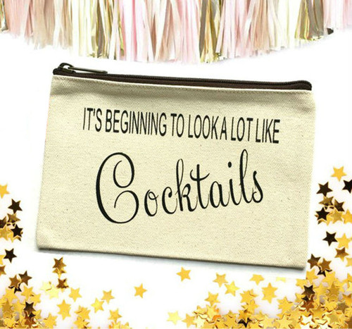 It's Beginning To Look A Lot Like Cocktails Make Up Bag
