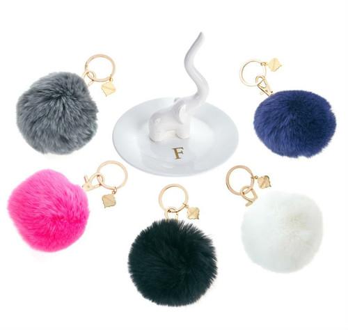 Vail Faux Fur Pom Pom Keychain