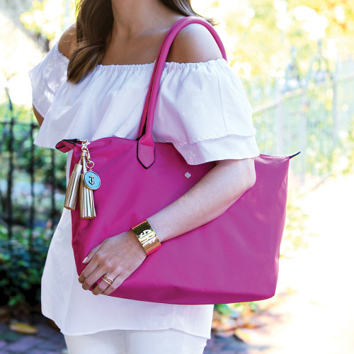 Georgetown Nylon Tote - Hot Pink