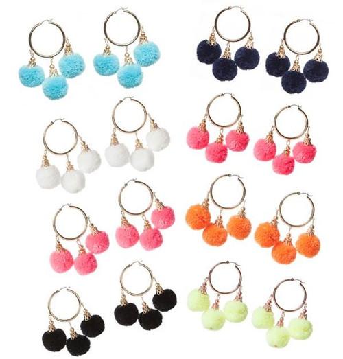 Fiesta Pom Pom Earrings