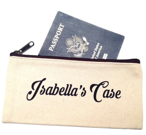 Personalized Name Canvas Make Up Bag