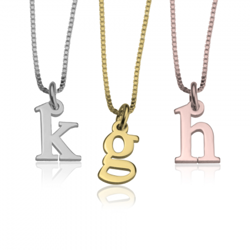 Personalized Small Initial Necklace | Gold, Silver Or Rose Gold