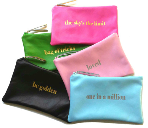 Stella Inspired Leather Cosmetic Bag & Personalized Make Up Bag