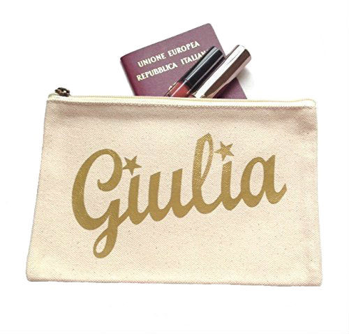 Personalized Stars Canvas Make-Up Bag Large