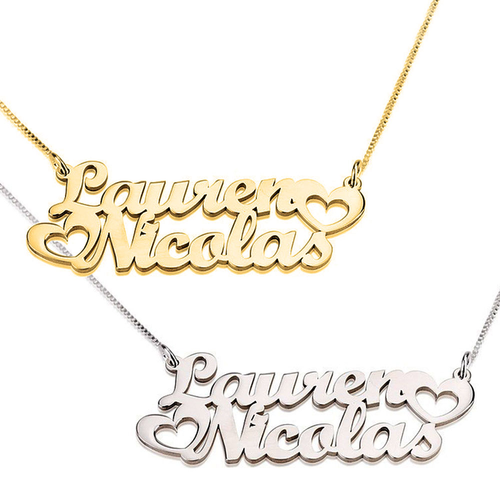 Two Names Two Hearts Personalized Necklace