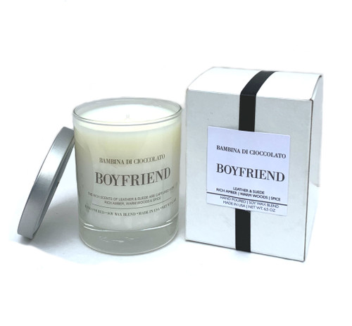Boyfriend Scented Candle | Leather & Suede