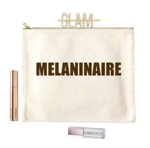 Melaninaire Canvas Make Up Bag In Extra Large