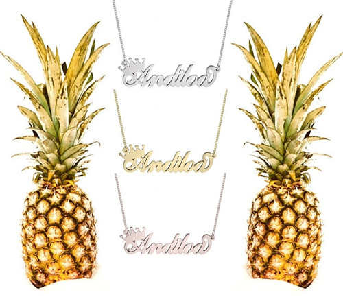 Personalized Queen Crown Name Necklace - Silver, Gold Plated Silver, Rose Gold Plated Silver