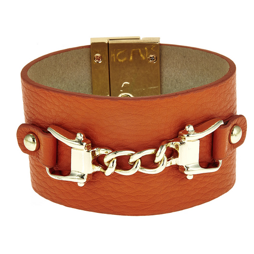 Saratoga Leather Cuff Bracelet