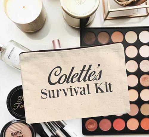 Personalized Survival Kit Canvas Bag