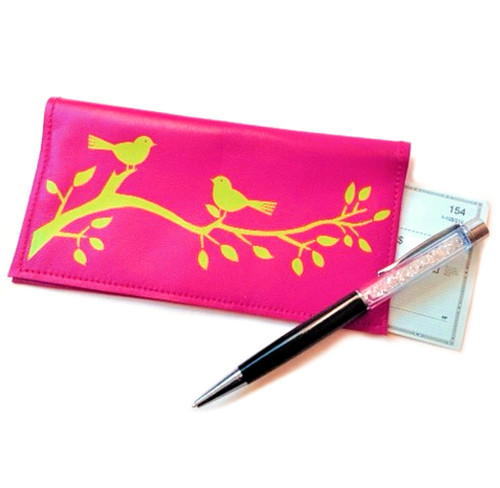 Birds On A Branch Checkbook Cover