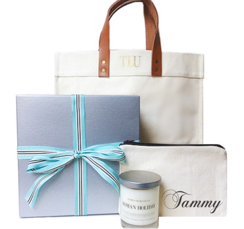 Fulham Personalized Gift Box | Tote Candle, Pouch & Candle