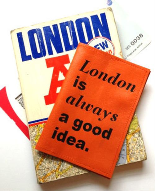 London is Always a Good Idea Passport Cover, Personalized City Passport Cover, Customized Passport Cover