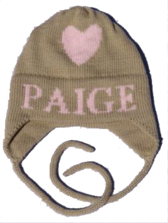 Personalized Baby Hat - Heart with Earflaps