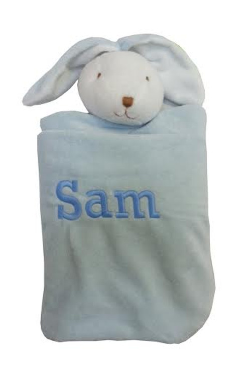 Angel Dear Personalized Security Blanket - Blue Bunny